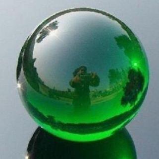 Asian Rare Natural Quartz Green Magic Crystal Healing Ball Sphere 40mm + Stand