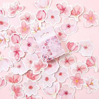 Mohamm Japanese Cherry Blossoms Planner Flower Diary Deco Paper Small Kawaii Stickers Stationary S