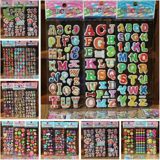 10 Sheets/lot Super multi Design 3D Puffy Bubble Waterpoof Stickers Fruits Smile Animal Children K