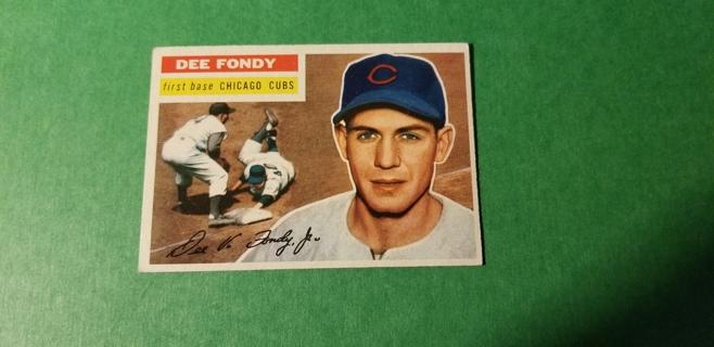 1956 - TOPPS EXMT  BASEBALL - CARD NO. 112 - DEE FONDY - CUBS
