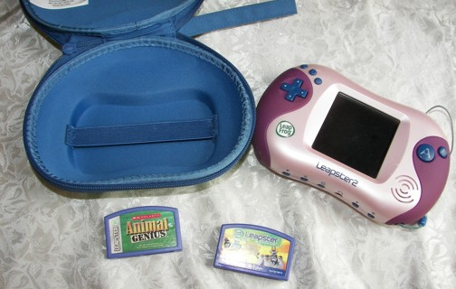 Leap Frog Leapster 2 w/Hard Case & 2 Games