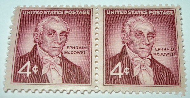 Scott #1138 Ephraim McDowell, Surgeon,  2 Useable US Postage 4¢ Stamps