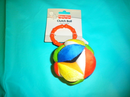 NEW Fisher Price Clutch Ball Hanging Rattle Toy