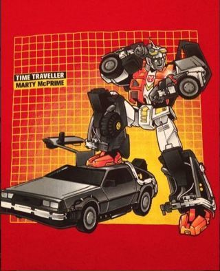 1 Transformers Back To The Future Shirt Mashup Tee FREE SHIPPING