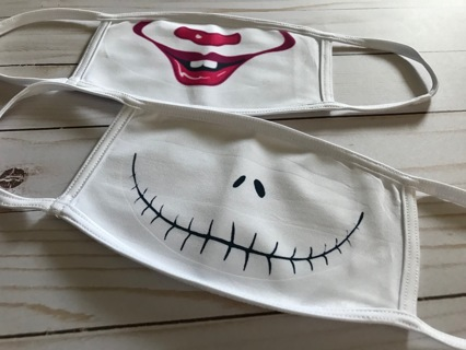 Skellington Pennywise face mask SET Reusable Opening for your own filter Free Shipping within the US