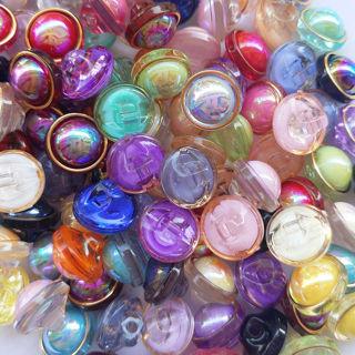30Pcs 11mm Plastic Half Ball Craft Sewing Button Lots Bulk