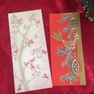 2 Vintage Christmas cards
