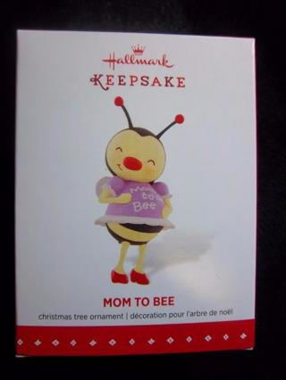 "NEW - $12.95 Retail ~ Hallmark Keepsake ""Mom to Bee"" Pregnant Bee So Cute FREE SHIP"