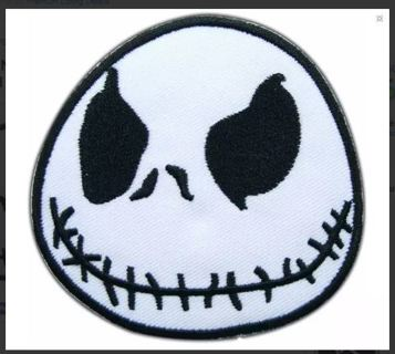 Jack Skull Nightmare IRON ON PATCH Applique Embroidered Accessorie