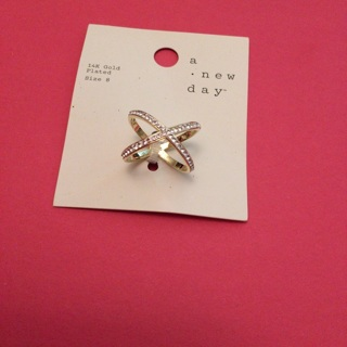 "Beautiful ""A New Day"" Ring Size 8 Gold Plated"