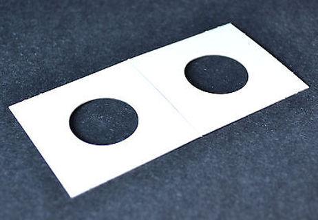 "one 2""x2"" cardboard/Mylar flip for quarter (25mm)"