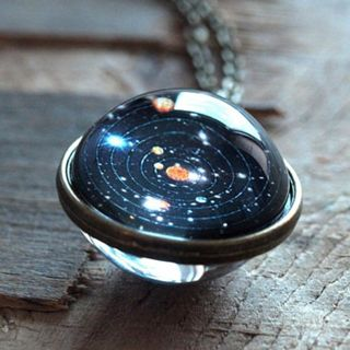 Solar System Necklace Pendant