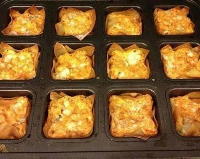 Buffalo Chicken Cups (appetizer recipe)