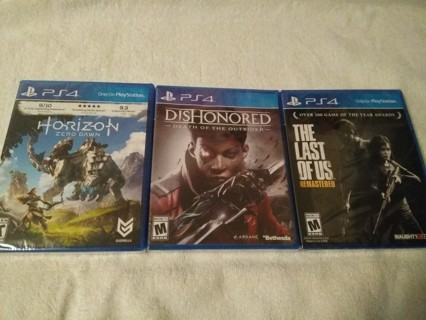 3 Brand New PS4 Games Sealed
