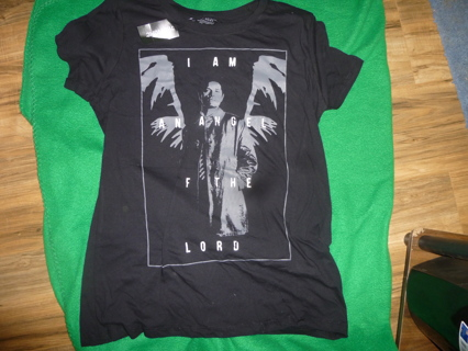 NWT Juniors Supernatural Castiel Angel of the Lord Shirt