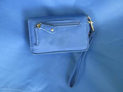 Blue Wristlet Wallet
