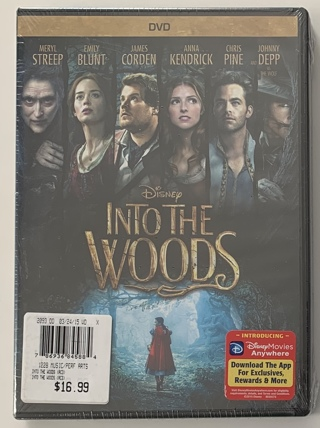 Disney Into The Woods DVD Movie - Brand New Factory Sealed