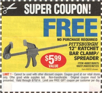 Free 14 free item coupons harbor freight tools other listia 14 free item coupons harbor freight tools sciox Image collections