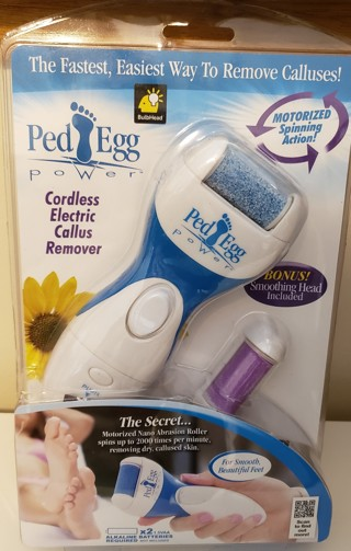 NEW - Ped Egg Power - Easy way to remove calluses!