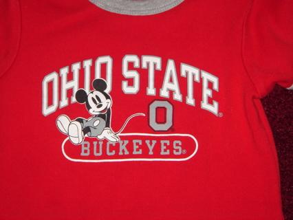 Free Ohio State Disney Mickey Mouse 3 6 Month Onesie