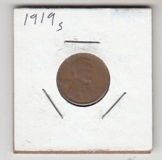 1919/S  Lincoln Head Wheat Penny