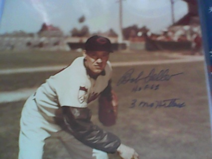Bob Feller Autographed 8 x 10 Photograph