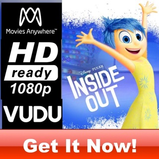INSIDE OUT HD MOVIES ANYWHERE OR VUDU CODE ONLY