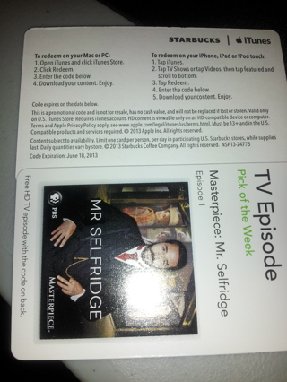 FREE iTunes TV Episode: MR. SELFRIDGE