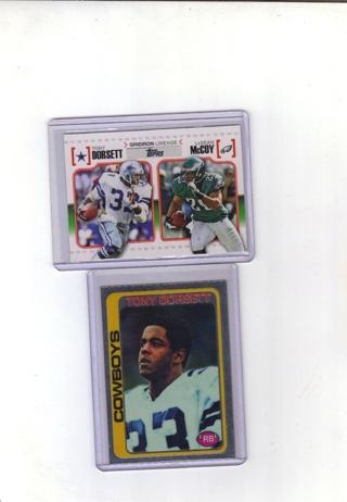 2 TONY DORSETT CARDS