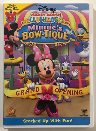 Disney Mickey Mouse Clubhouse: Minnie's Bow-Tique DVD Movie - Mint Disc!