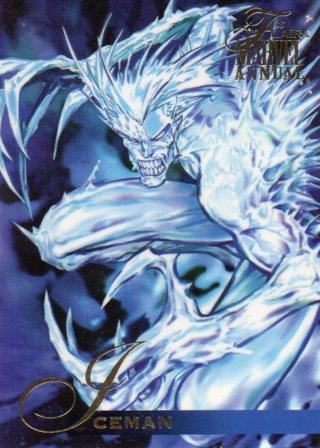1995 Marvel Comic Trade Card: Iceman