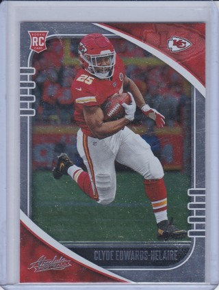 Clyde Edwards-Helaire Rookie Card - 2020 Panini Absolute Football - Kansas City Chiefs !!!
