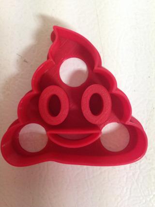 Poop Emoji Cookie Cutter - (3D Printed Plastic)