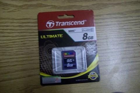 8 GB Transcend SDHC Card