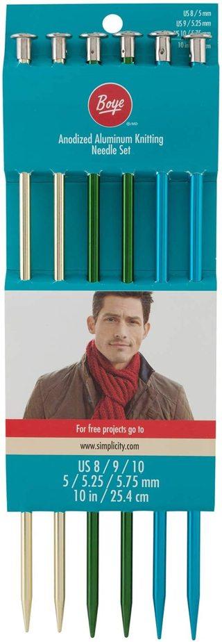 10'' Boye Knitting Needle Set Sizes 8/9/10