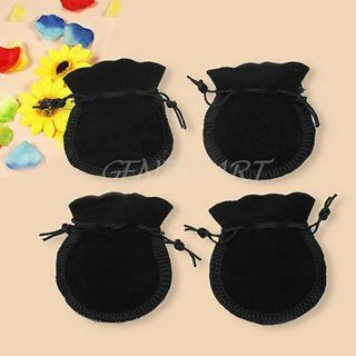 20PCs Soft Velvet Drawstring Jewelry Pouches Necklace Earrings Ring Gift Bag