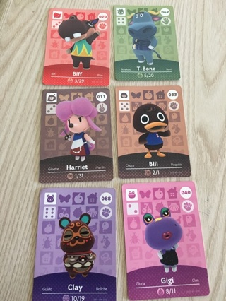 Tiered Auction: Animal Crossing New Leaf/ Amiibo Cards