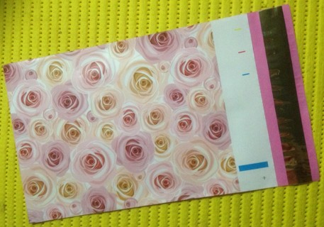 """5 PINK ROSES 6"""" x 9"""" Fancy Poly Mailers"""