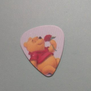 WINNIE THE POOH SNIFFING SMELLING RED ROSE Disney Bear Heavy Guitar Pick Plectrum - Free Shipping