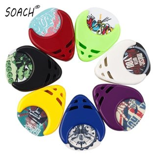 SOACH Brand ukulele Guitar picks 10pcs guitar paddle + paddle case Guitar Accessories A variety of