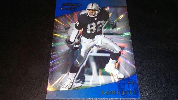 2000 QUANTUM LEAF JAMES JETT RAIDERS FOOTBALL CARD