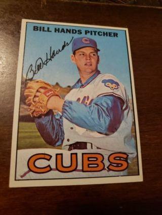 1967 Bill Hands Chicago Cubs vintage baseball card