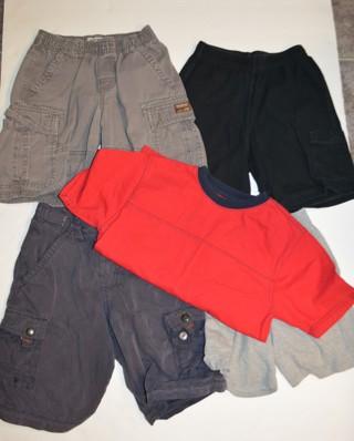 Boys Summer Clothes Size 6-7  (5) Pieces Shorts & Shirt