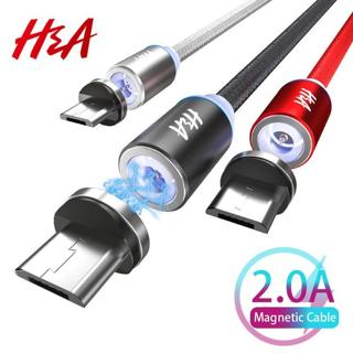 H&A Magnetic Charger Micro USB Cable For Xiaomi Huawei Android Mobile Phone Fast Charging Magnet M