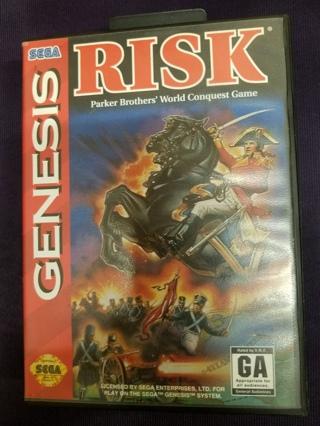 Risk Sega Genesis 1994 Video Game Cartridge w/Manual and Case