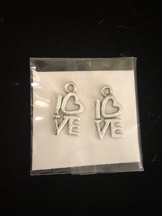 2 'LOVE ' Charms