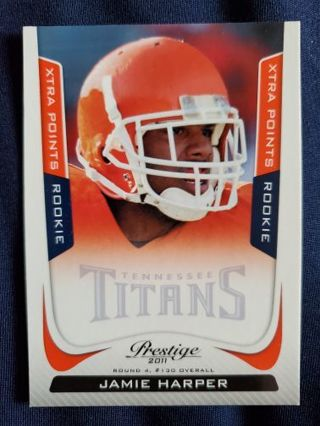 2011 Panini Prestige Xtra Points Orange Rookie Jamie Harper
