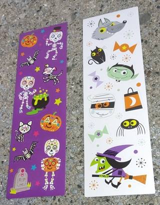 HALLOWEEN STICKERS 2 SHEETS LOT 1