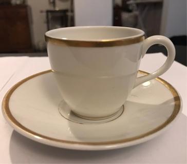 Vintage Gold Rimmed Demitasse Cup & Saucer