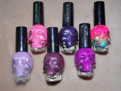 Free: Lot of 6 Hot Topic Blackheart Beauty nail polish - Nails ...